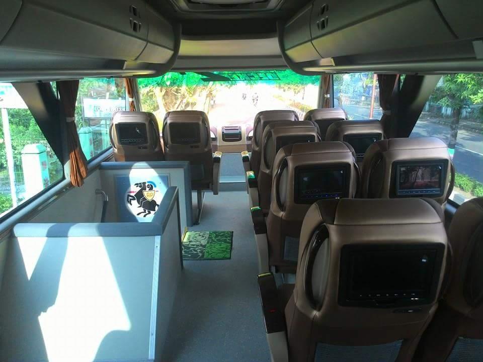 Fasilitas dan Interior bus tingkat double decker Po efisiensi