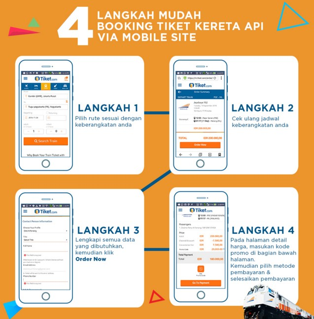 Cara Booking Tiket Kereta Api Online Via Mobile Site