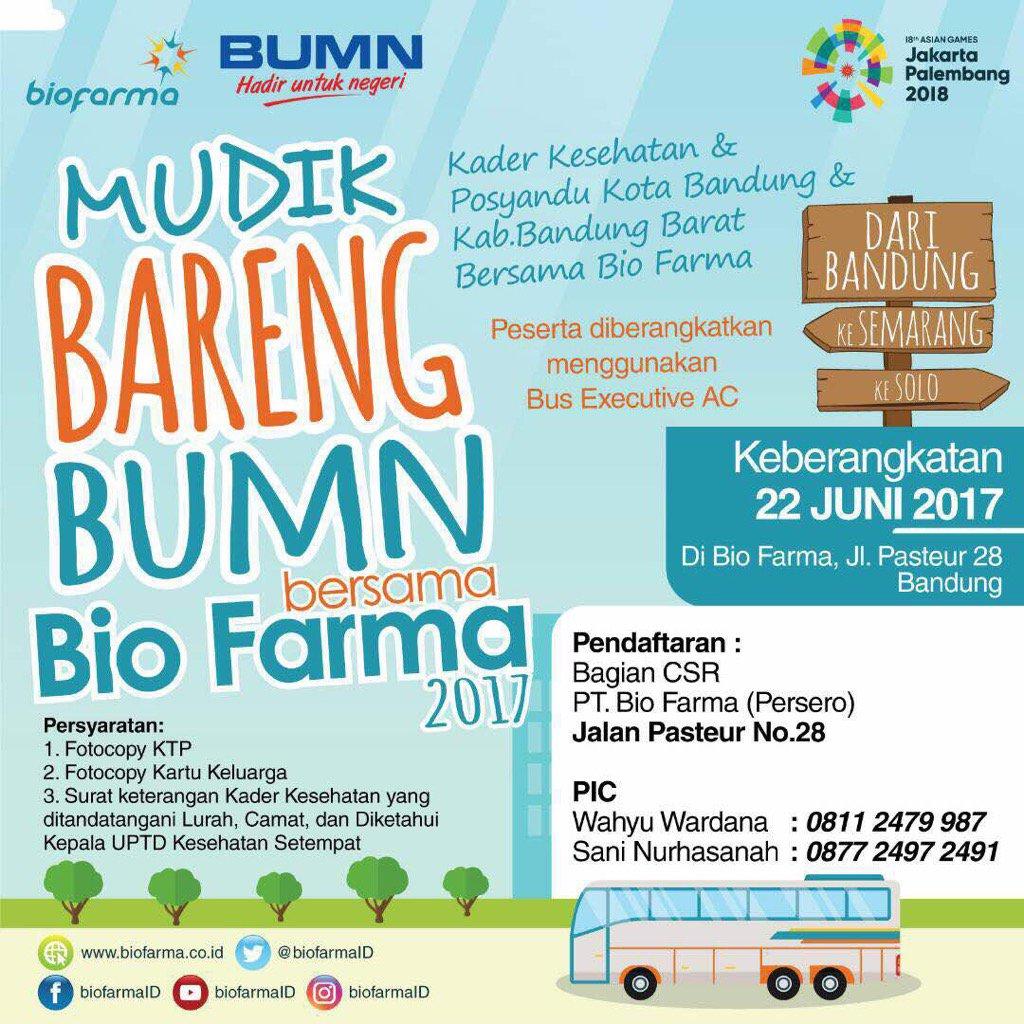 Mudik Gratis Bio Farma Bagi Paramedis Yang Akan Pulang Kampung
