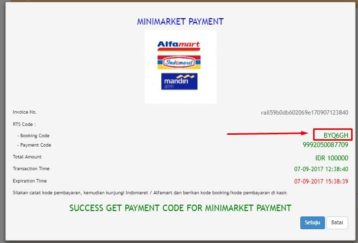 Cara pembelian tiket railink melalui Indomaret
